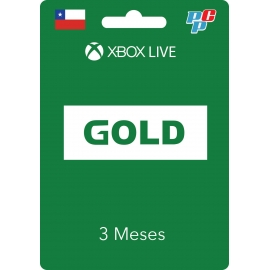 Tarjeta XBOX Live Gold Global 3 meses digital - XBOX Chile