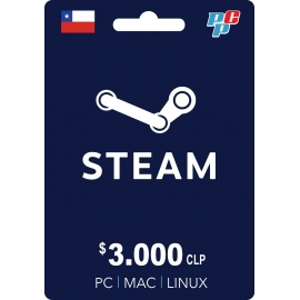 Tarjeta Steam Wallet 3000 CLP digital
