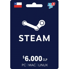 Tarjeta Steam Wallet 6000 CLP digital