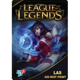 Tarjeta League of Legends 420 Riot Point digital