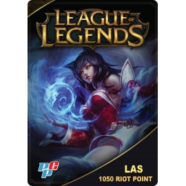 Tarjeta League of Legends 1050 Riot Point digital