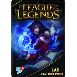 Tarjeta League of Legends 2140 Riot Point digital