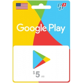 Tarjeta Google Play 5 dolares digital - Play Store USA