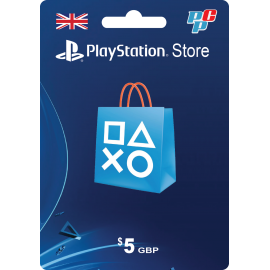 Tarjeta PSN Inglaterra 5 libras digital - PlayStation Store Reino Unido UK