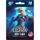 Tarjeta League of Legends 10 dolares - 1380 Riot Point digital